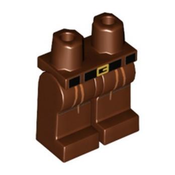 LEGO 6197900 PRINTED LEGS - REDDISH BROWN