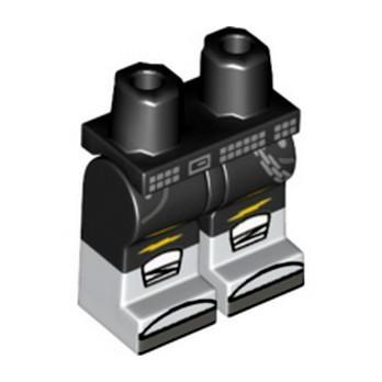 LEGO 6197117 PRINTED LEGS - WHITE/BLACK