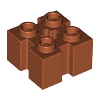 LEGO 6315198 BRICK 2X2 W/GROOVE - DARK ORANGE