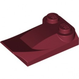 LEGO 6322134 PLATE W. BOWS 2X3½ - NEW DARK RED