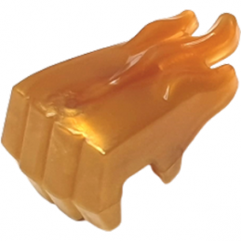 LEGO 6317431 Ø3.2 SHAFT WITH HAND - GOLD ORANGE