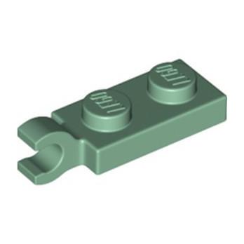 LEGO 6354613 PLATE 2X1 W/HOLDER,VERTICAL - SAND GREEN