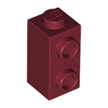LEGO 6311108 BRICK 1X1X1 2/3, W/ VERT. KNOBS - NEW DARK RED