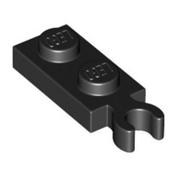 LEGO 6350725 PLATE 1X2 W/ HOLDER - BLACK