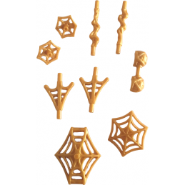 LEGO 6361115 SET OF SPIDERMAN WEAPONS - WARM GOLD