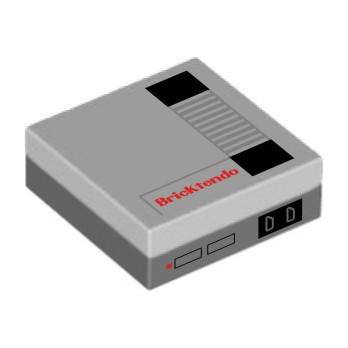 """Console """"Bricktendo"""" stampata su Lego® Brick 2X2"""