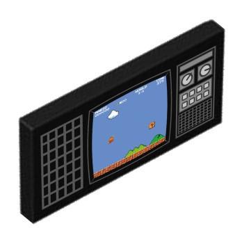Schermo TV retrò stampato su Lego® Brick 2X4