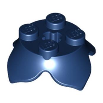 LEGO 6253886 PLATE 2X2,2/3 W/KRYDSHUL& CROWN LEAF - EARTH BLUE