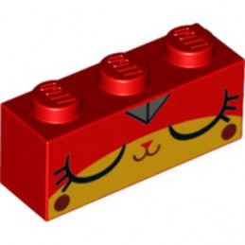 LEGO 6257506 BRICK 1X3 PRINTED - RED