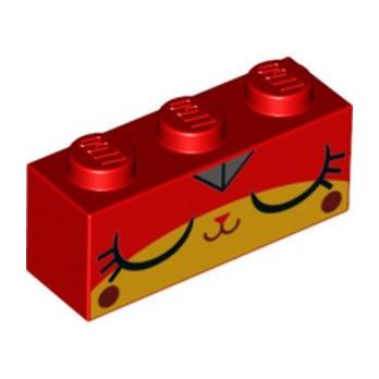 LEGO 6257506 BRIQUE 1X3 IMPRIME - ROUGE