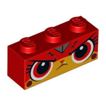 LEGO 6253942 BRICK 1X3 PRINTED - RED