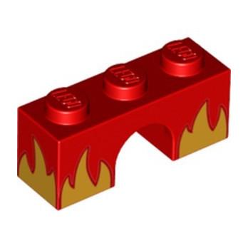 LEGO 6253946 ARCH BRICK 1X3 PRINTED - RED