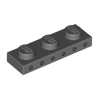 LEGO 6253938 PLATE 1X3 IMPRIME - DARK STONE GREY