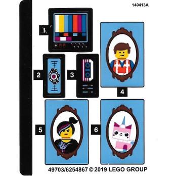 Stickers / Autocollant The Lego Movie 2 - 70831