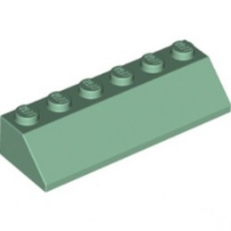 LEGO 6254955 ROOF TILE 2X6 45° - SAND GREEN