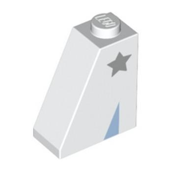 LEGO 6273213 SLOPE 2X1X2 PRINTED STAR - WHITE
