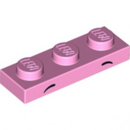 LEGO 6261968 PLATE 1X3 PRINTED - BRIGHT PINK