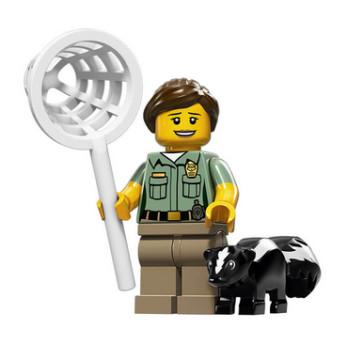 Figurine Lego® Serie 15 : AGENT DE CONTRÔLE DES ANIMAUX