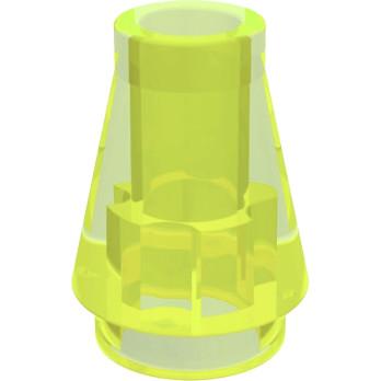 LEGO 618849 CONE 1X1 - JAUNE FLUO TRANSPARENT lego-6301321-cone-1x1-jaune-fluo-transparent ici :