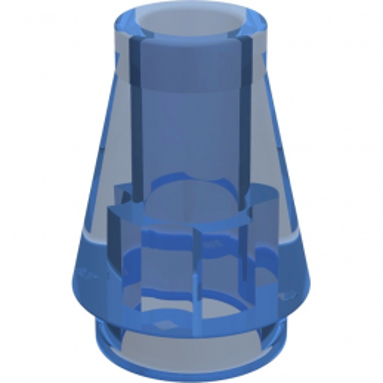 LEGO 6301313 CONE 1X1 - TRANSPARENT DARK BLUE