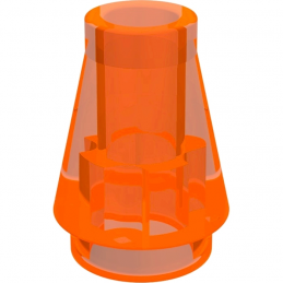 LEGO 4529918 CONE 1X1 - ORANGE FLUO TRANSPARENT