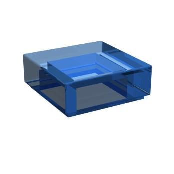 LEGO 3003943 PLATE LISSE 1X1 - Bleu Foncé Transparent
