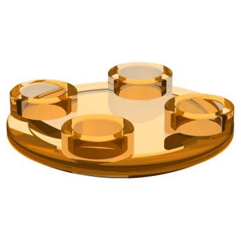 LEGO 4264008 ROND LISSE 2X2 INV - Orange Transparent