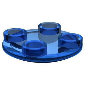 LEGO 6171732 FLAT ROUND TILE 2X2 INV  - TRANSPARENT DARK BLUE
