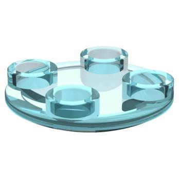 LEGO 4220021 ROND LISSE 2X2 INV - Bleu Transparent