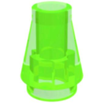 LEGO 6337628 CONE 1X1 - TRANSPARENT BRIGHT GREEN