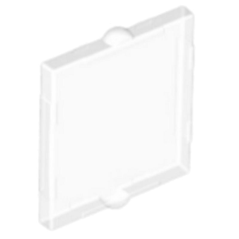 LEGO ® 1x2x2 fenêtre//verre transparent bleu//10 pièces