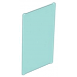 LEGO 4500813	GLAS FOR FRAME 1X4X6 - Tr. Light Blue