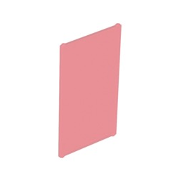 LEGO 6065500GLAS FOR FRAME 1X4X6 - Tr. Red