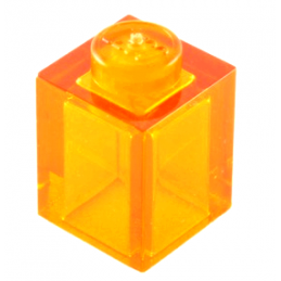 LEGO 4262655 	BRIQUE 1X1 - Tr. Bright Orange