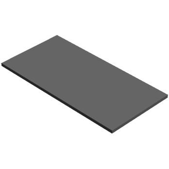 4596898 FLAT TILE 8X16 - Dark Stone Grey