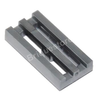 LEGO 4619636 RADIATOR GRILLE 1X2 - SILVER METAL