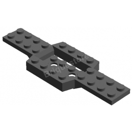 LEGO 4259673 CHASSIS 4X12 W. BOTTOM 2X4X2/3 - DARK STONE GREY lego-4259673-chassis-4x12-w-bottom-2x4x23-dark-stone-grey ici :