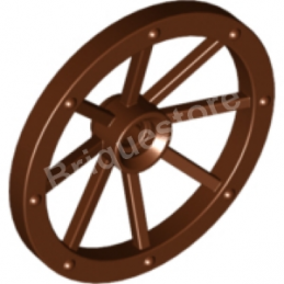 4211279 	WHEEL WITH SPOKES Ø33.8 - Reddish Brown